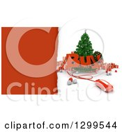 3d Christmas Tree With A Computer Mouse BUY Text Baubles And Gifts With Torn Red Paper