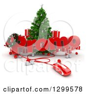 3d Christmas Tree With A Computer Mouse PROMO Text Baubles And Gifts
