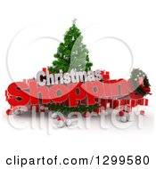 3d Tree With A Baubles Gifts And CHRISTMAS SHOPPING Text