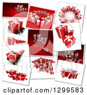 Snap Shots Of 3d Christmas Or Birthday Gifts On White 2