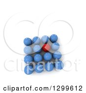 Clipart Of A 3d Blue And Red Billiards Balls Forming A Square On White With Text Space Royalty Free Illustration