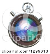 Clipart Of A 3d Camera Lens Chronometer On White Royalty Free Illustration by Frank Boston