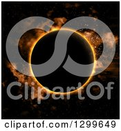 Clipart Of A 3d Eclipse In Orange Tones Royalty Free Illustration