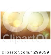 Golden Bokeh Light Flare Background