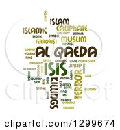 Green Isis And Al Qaeda Word Collage Over White