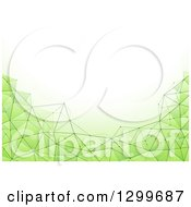 Clipart Of A Green Geometric Background With Text Space Royalty Free Vector Illustration