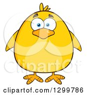 Clipart Of A Cartoon Yellow Chick Royalty Free Vector Illustration