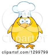 Clipart Of A Cartoon Yellow Chick Chef Royalty Free Vector Illustration