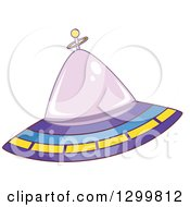 Clipart Of A Cartoon Flying Ufo Royalty Free Vector Illustration