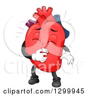 Clipart Of A Cartoon Heart Character Under Attack Royalty Free Vector Illustration by BNP Design Studio
