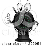 Clipart Of A Cartoon Surveillance Camera Character Holding A Thumb Up Royalty Free Vector Illustration by BNP Design Studio