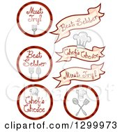 Clipart Of Chefs Choice Food Designs Royalty Free Vector Illustration by BNP Design Studio