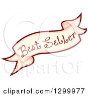 Clipart Of A Best Seller Food Banner Royalty Free Vector Illustration by BNP Design Studio