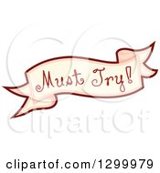 Clipart Of A Must Try Food Banner Royalty Free Vector Illustration by BNP Design Studio