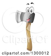 Clipart Of A Cartoon Axe Character Royalty Free Vector Illustration by BNP Design Studio