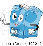Clipart Of A Cartoon Water Container Character Holding A Thumb Up Royalty Free Vector Illustration
