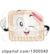 Clipart Of A Cartoon Pop Tart Character Winking And Giving A Thumb Up Royalty Free Vector Illustration