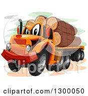 Clipart Of A Cartoon Logging Truck Royalty Free Vector Illustration