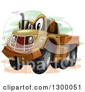 Cartoon Military Truck Character