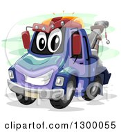 Clipart Of A Cartoon Tow Truck Character Royalty Free Vector Illustration by BNP Design Studio