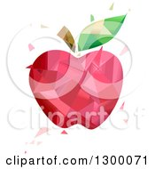 Clipart Of A Geometric Red Apple Royalty Free Vector Illustration