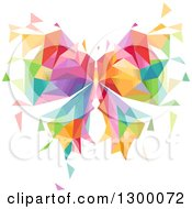 Clipart Of A Colorful Geometric Butterfly Royalty Free Vector Illustration by BNP Design Studio