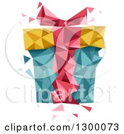 Clipart Of A Geometric Gift Box Royalty Free Vector Illustration
