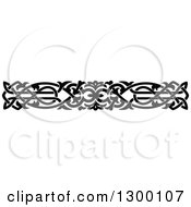 Clipart Of A Black And White Ornate Vintage Border Royalty Free Vector Illustration