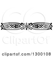 Clipart Of A Black And White Ornate Vintage Border 10 Royalty Free Vector Illustration