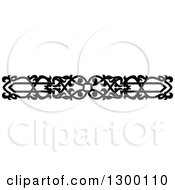 Clipart Of A Black And White Ornate Vintage Border 12 Royalty Free Vector Illustration
