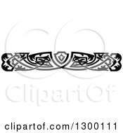 Clipart Of A Black And White Ornate Vintage Border 2 Royalty Free Vector Illustration