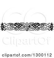 Clipart Of A Black And White Ornate Vintage Border 3 Royalty Free Vector Illustration
