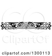 Clipart Of A Black And White Ornate Vintage Border 4 Royalty Free Vector Illustration