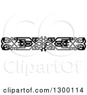 Clipart Of A Black And White Ornate Vintage Border 5 Royalty Free Vector Illustration