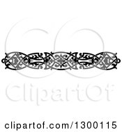 Clipart Of A Black And White Ornate Vintage Border 6 Royalty Free Vector Illustration