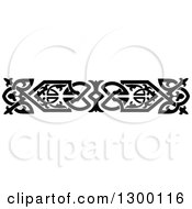 Clipart Of A Black And White Ornate Vintage Border 7 Royalty Free Vector Illustration