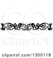 Clipart Of A Black And White Ornate Vintage Border 9 Royalty Free Vector Illustration