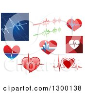 Clipart Of Medical Heartbeat Designs Royalty Free Vector Illustration by Vector Tradition SM