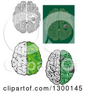 Clipart Of Circut Brains Royalty Free Vector Illustration