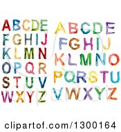 Clipart Of Colorful Capital Geometric Alphabet Letters Royalty Free Vector Illustration