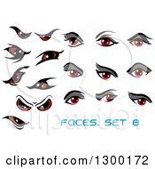 Clipart Of Red Eyes Royalty Free Vector Illustration by Vector Tradition SM