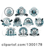 Clipart Of Nautical Designs With Text And Banners 2 Royalty Free Vector Illustration by Vector Tradition SM