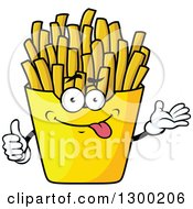Clipart Of A Cartoon Goofy French Fries Character Royalty Free Vector Illustration by Vector Tradition SM