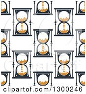 Clipart Of A Seamless Pattern Background Of Hourglasses 2 Royalty Free Vector Illustration by Vector Tradition SM