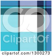 Clipart Of A Blue White Black And Purple Plaid Seamless Pattern Background Royalty Free Vector Illustration