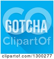 Blue Goatcha Text With A Long Shadow