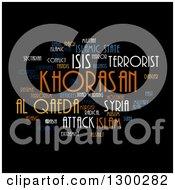 Isis And Al Qaeda Word Collage On Black