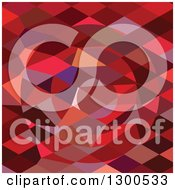 Clipart Of A Low Poly Abstract Geometric Background Of A Red Rising Sun Royalty Free Vector Illustration by patrimonio