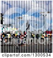 Clipart Of A Low Poly Abstract Geometric Background Of City Skyscrapers Royalty Free Vector Illustration