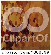 Clipart Of A Low Poly Abstract Geometric Background Of Brown Autumn Leaves Royalty Free Vector Illustration by patrimonio